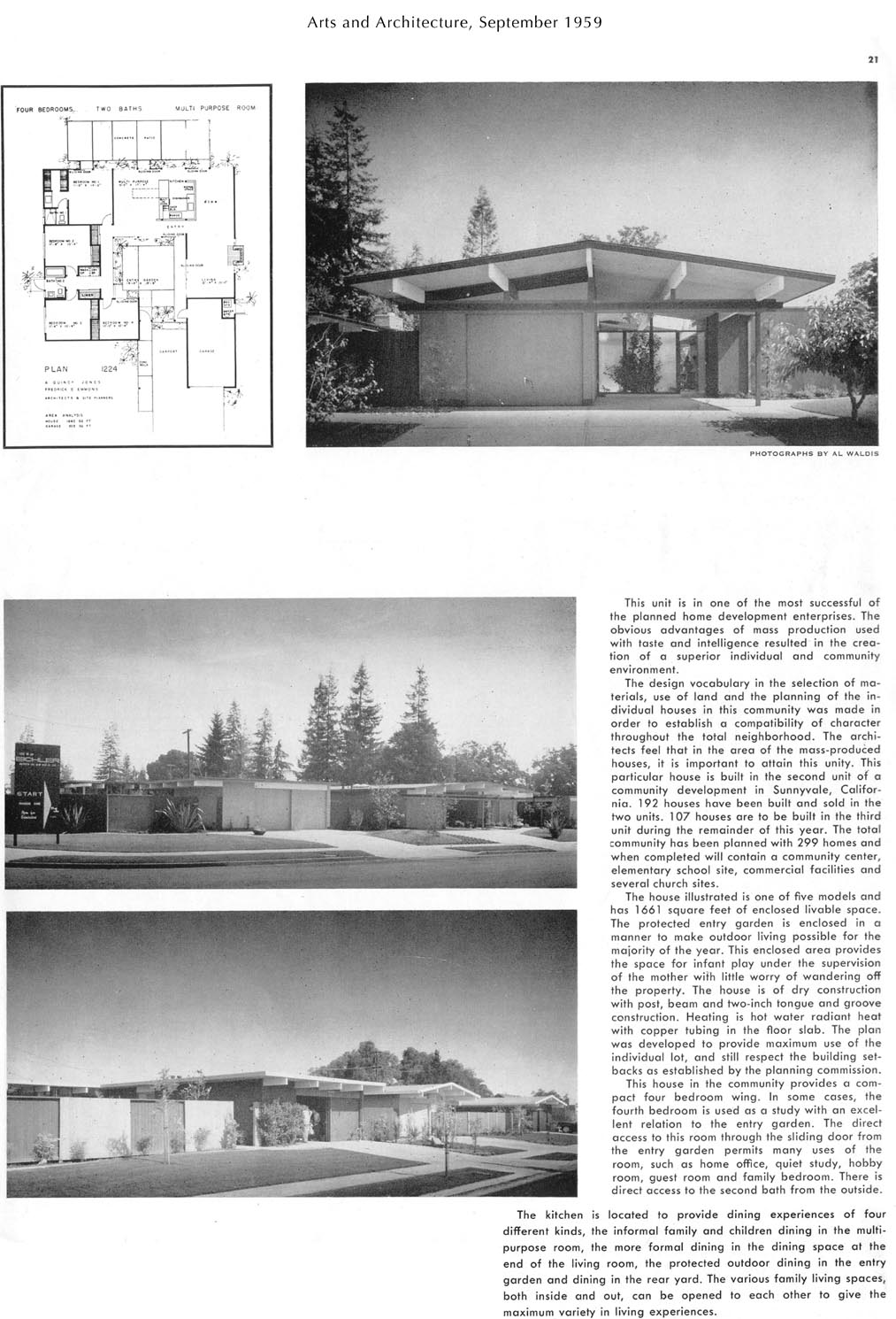 Eichler magazine article arts architecture sep 1959 for Home design articles
