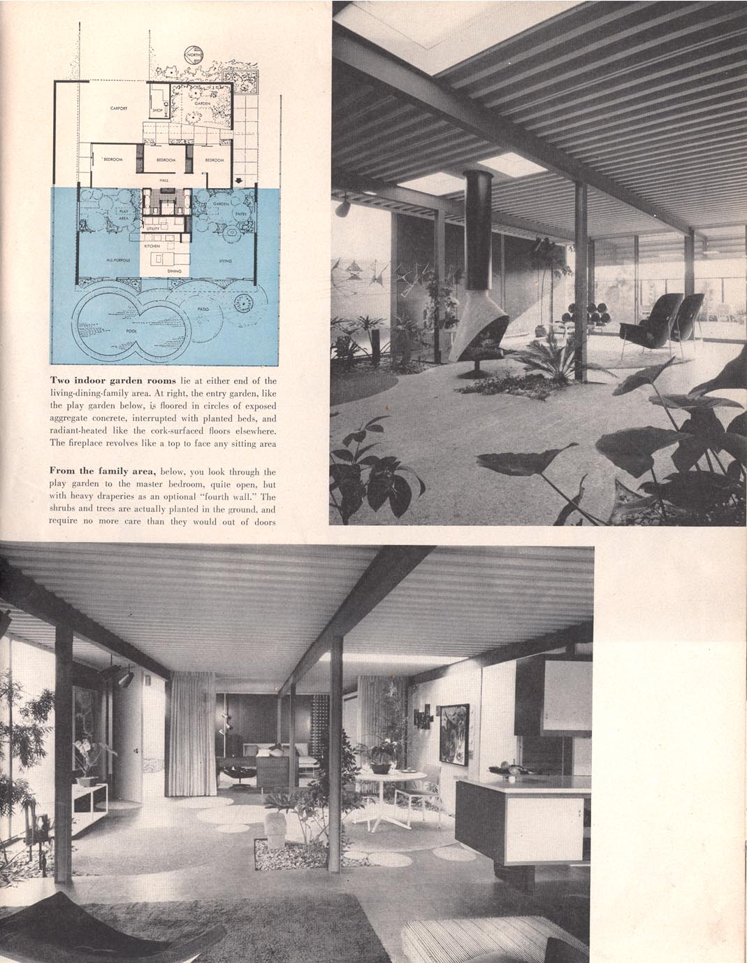 Eichler magazine article living for young homemakers for Eichler flooring