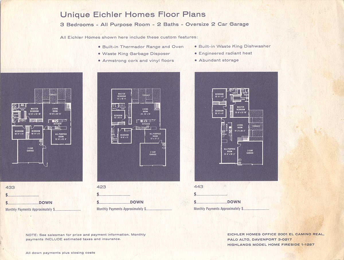 Eichler the house Eichler atrium floor plan
