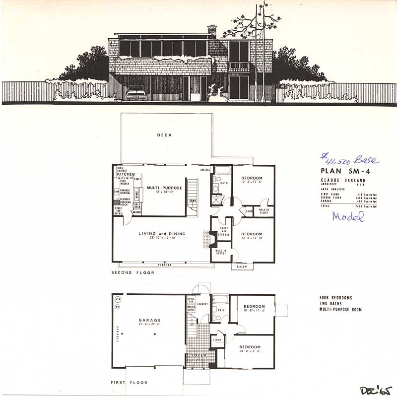 Eichler brochures yorktown for Eichler house plans